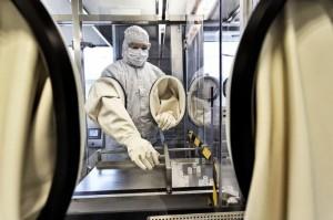 图为德国图宾根市CureVac公司的研究设施。目前有几十家公司在研究冠状病毒疫苗,CureVac就是其中之一。